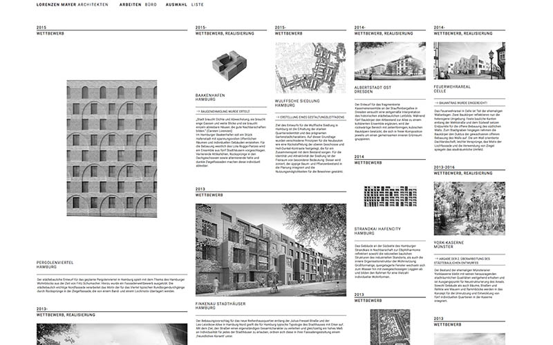 Website Erstellung Lorenzen Mayer Architekten